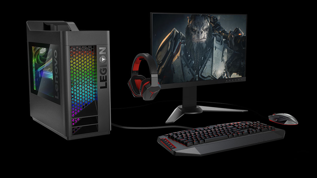 Lenovo Gaming Tower PC with Liquid cooling, and RGB colors