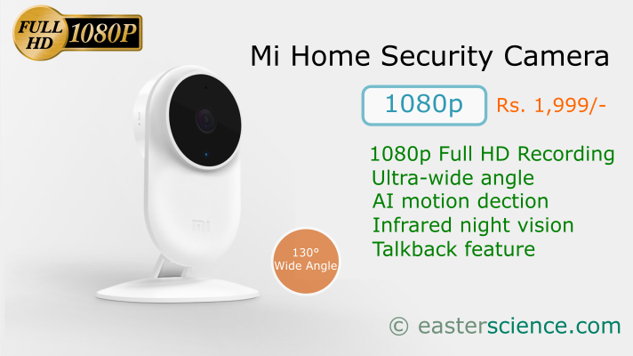 Xiaomi Mi Home Security Camera Basic 1080p in India - EASTER SCIENCE